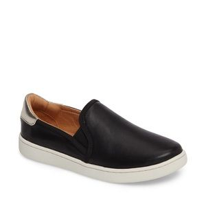 UGG Cas Slip On Sneaker Black Leather